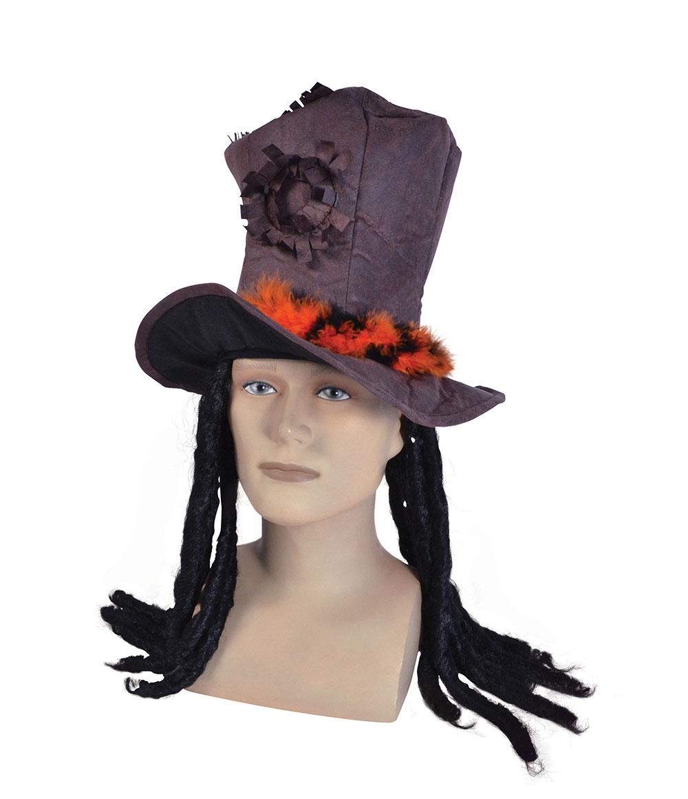 18c5244376c54 Brown Top Hat and Dreadlocks
